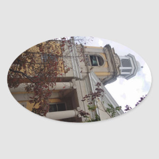 Follow the Yellow Brick Church Oval Sticker