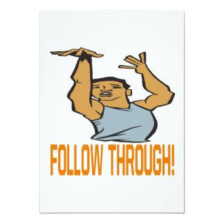 Follow Through Card