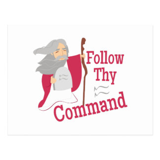 Follow Thy Command Postcard