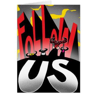 Follow US! Card
