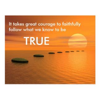 Follow what is true postcard