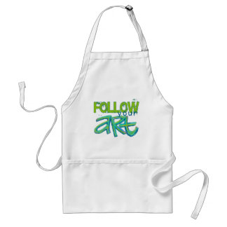 Follow Your Art (Choose your Background Color) Adult Apron