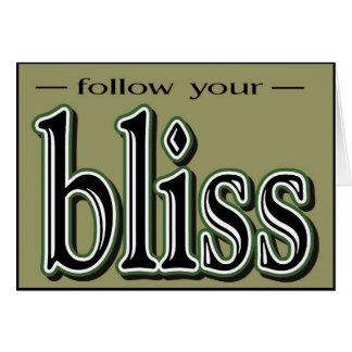 Follow your Bliss Card