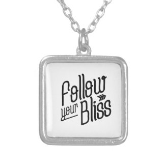 Follow Your Bliss Silver Plated Necklace