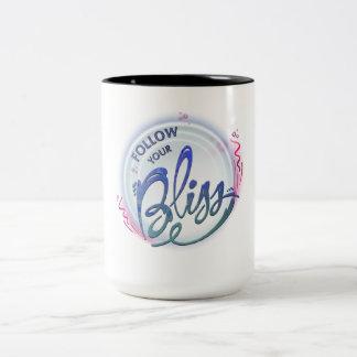 follow your bliss Two-Tone coffee mug