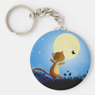 Follow your dreams basic round button keychain