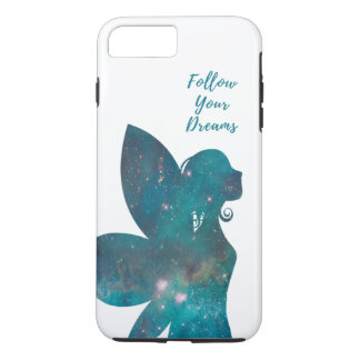 Follow Your Dreams Fairy in Blues Greens Turquoise iPhone 7 Plus Case