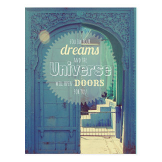 """""""Follow your dreams""""- inspirational quote postcard"""