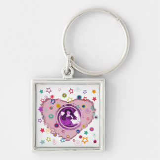 Follow Your Dreams Silver-Colored Square Keychain
