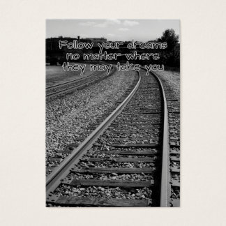 Follow your dreams motivational card