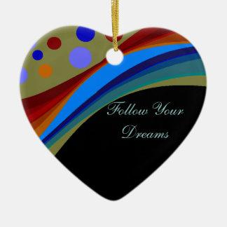 Follow Your Dreams Rainbows and Circles Ornament