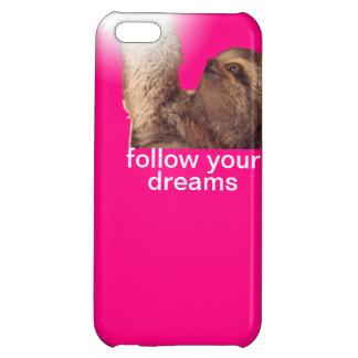 Follow your dreams - sloth magenta iPhone 5C case