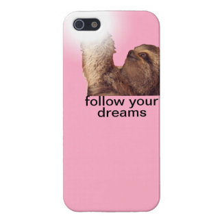 Follow your dreams - sloth pink iPhone SE/5/5s case