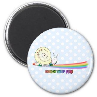 Follow Your Fun Cute Snail Rainbow Fridge Magnets