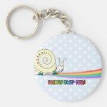 Follow Your Fun Cute Snail Rainbow Keychain