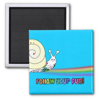 Follow Your Fun Cute Snail Rainbow Magnets