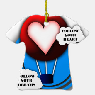 FOLLOW YOUR HEART AND FOLLOW YOUR DREAMS CHRISTMAS TREE ORNAMENT