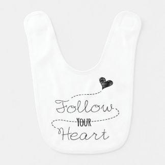 Follow Your Heart Baby Bib