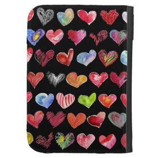 Follow Your Heart Black Custom Kindle Folio Case