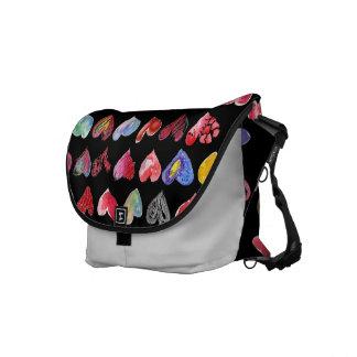 Follow Your Heart Black Custom Rickshaw Messenger  Messenger Bags