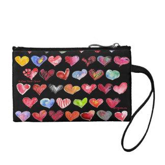 Follow Your Heart Black Key Coin Custom Zipper Bag Coin Purses