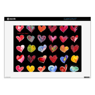 Follow Your Heart Black on all Laptop Skins