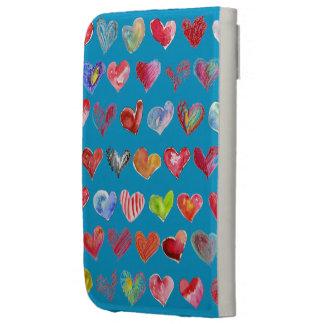 Follow Your Heart Blue Custom Kindle Folio Case