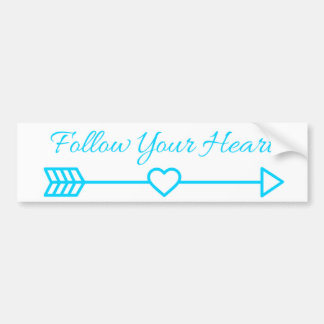 Follow Your Heart Bumper Sticker