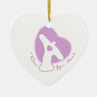 Follow Your Heart Ceramic Ornament