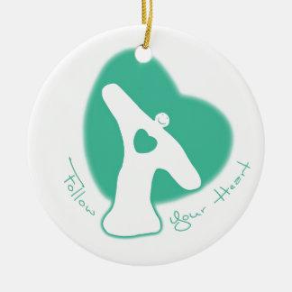 Follow Your Heart Christmas Ornaments