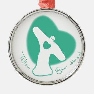 Follow Your Heart Christmas Tree Ornament