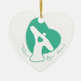 Follow Your Heart Christmas Tree Ornaments