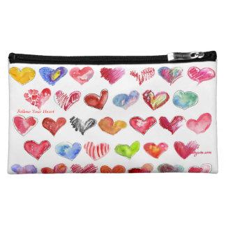 Follow Your Heart Cosmetic Custom Zipper Bag Makeup Bag