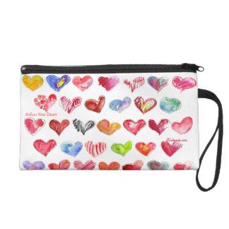Follow Your Heart Custom Bag Purse Clutch Wristlet