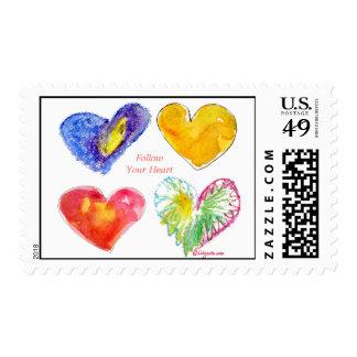 Follow Your Heart Love Custom Postage