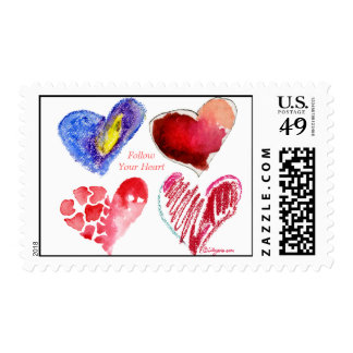 Follow Your Heart Love Postage