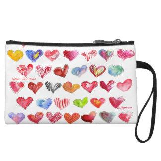 Follow Your Heart Mini Clutch Custom Zipper Bag Wristlets