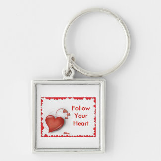 Follow Your Heart Necklace Keychain