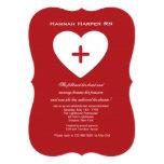 Follow Your Heart Nursing School Graduation Inv. Card