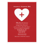 Follow Your Heart Nursing School Graduation Inv. Invitations