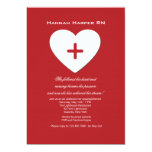 "Follow Your Heart Nursing School Graduation Inv. 5"" X 7"" Invitation Card"