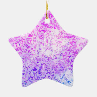 Follow your heart, pink christmas ornaments