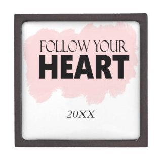 Follow Your Heart & Pink Paint Swish Gift Box