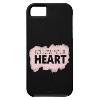 Follow Your Heart & Pink Paint Swish iPhone Case