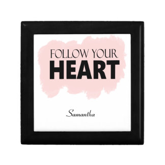 Follow Your Heart Pink Swish Small Gift Box