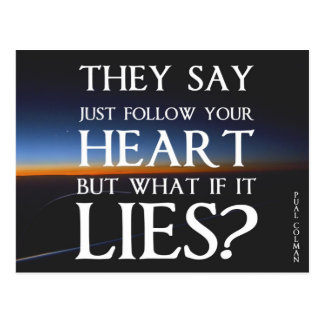 Follow Your Heart Postcard