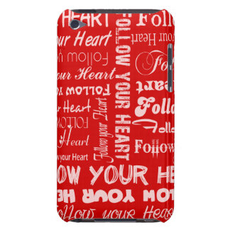 Follow Your Heart - Red and white ipod case