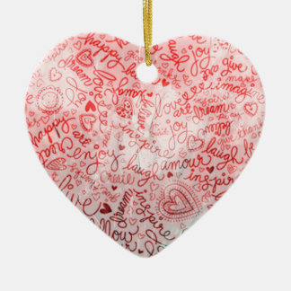 Follow your heart, red christmas ornament