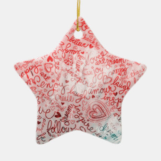 Follow your heart, red christmas tree ornament