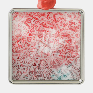 Follow your heart, red christmas tree ornaments